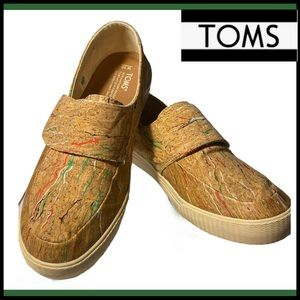 TOMS ALTAIR Multi-Color Cork Slip-On Shoes 10